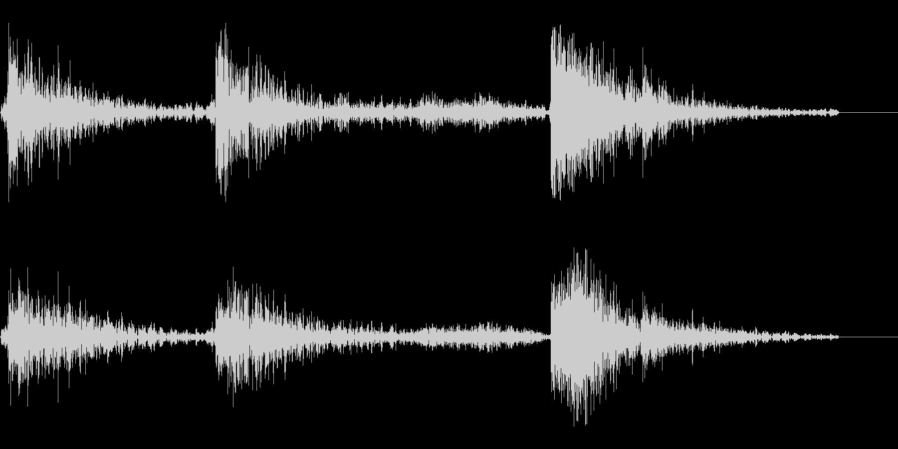 重い物を引きずる音(重いものを動かす音)の未再生の波形