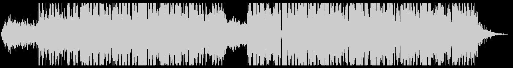 白銀の舞うイメージのラブバラードの未再生の波形