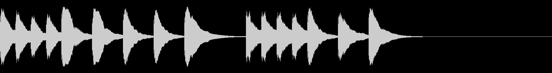 木琴のなんとかなった感じの5秒ジングルの未再生の波形