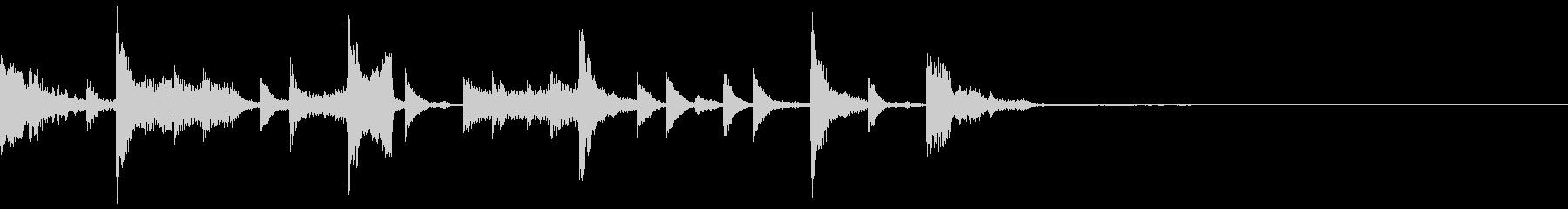 軽快な電子音のジングルの未再生の波形