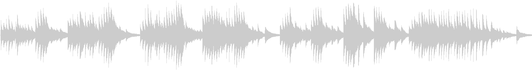ロマンチックなメロディのピアノBGMの未再生の波形