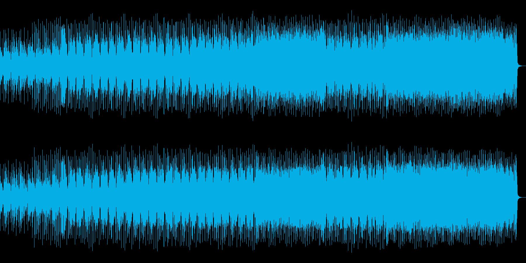 アコギとシンセのキャッチーなメロディーの再生済みの波形