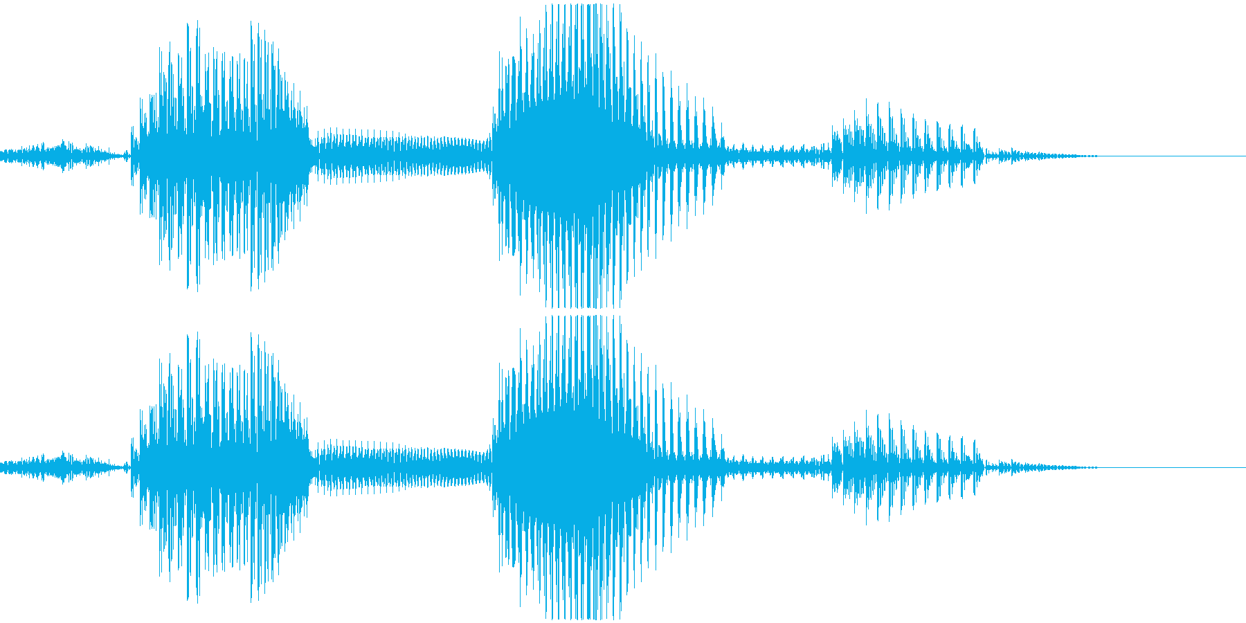 三倍満の再生済みの波形