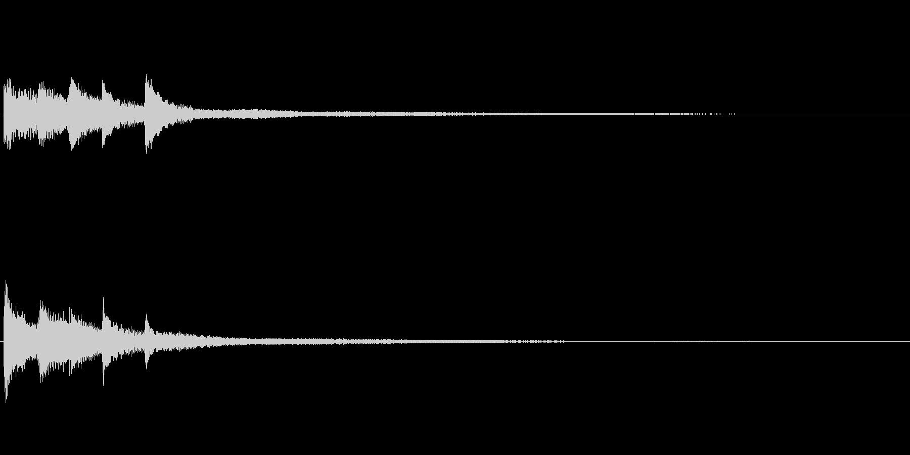 ピアノソロサウンドロゴ 優雅 大人 09の未再生の波形