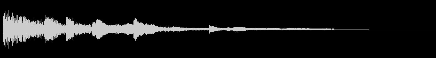 ピアノソロによる起動音 アプリ 車の未再生の波形