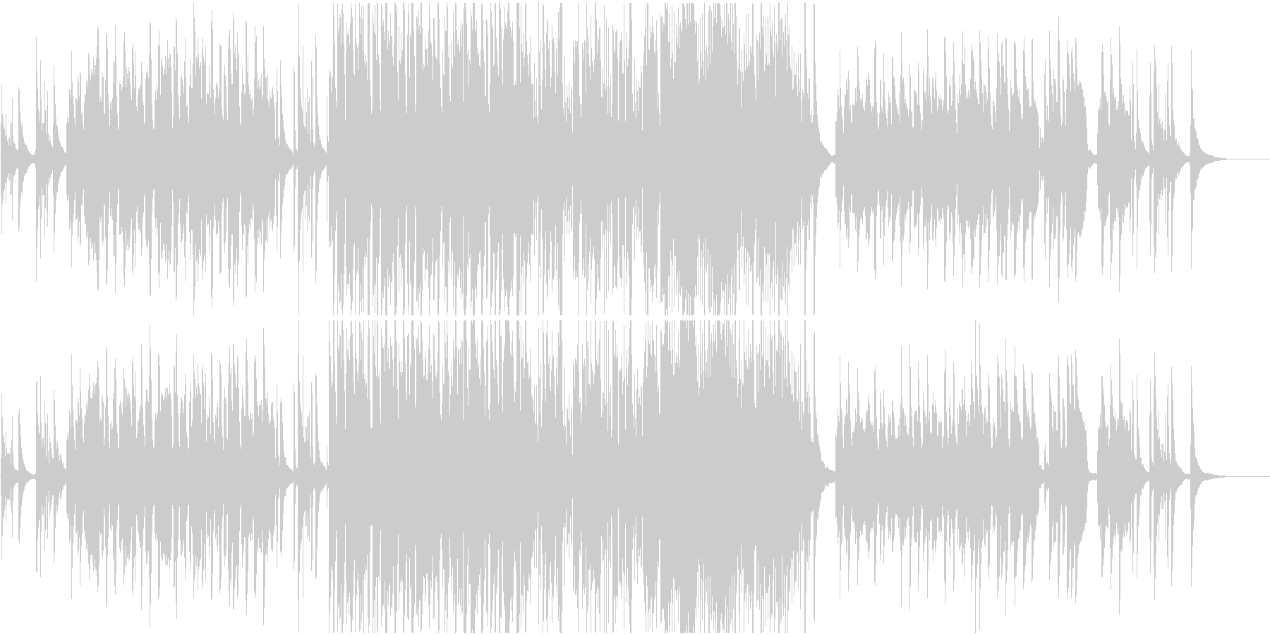 ピアノとアコギが爽やかなゆったりとした曲の未再生の波形