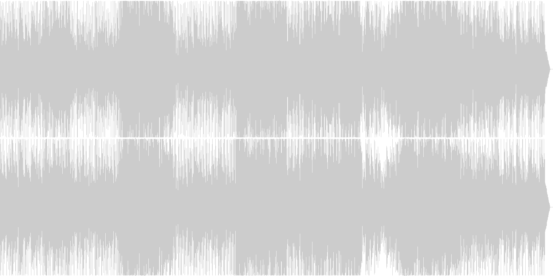 明るくもどこかノスタルジーな3拍子曲の未再生の波形