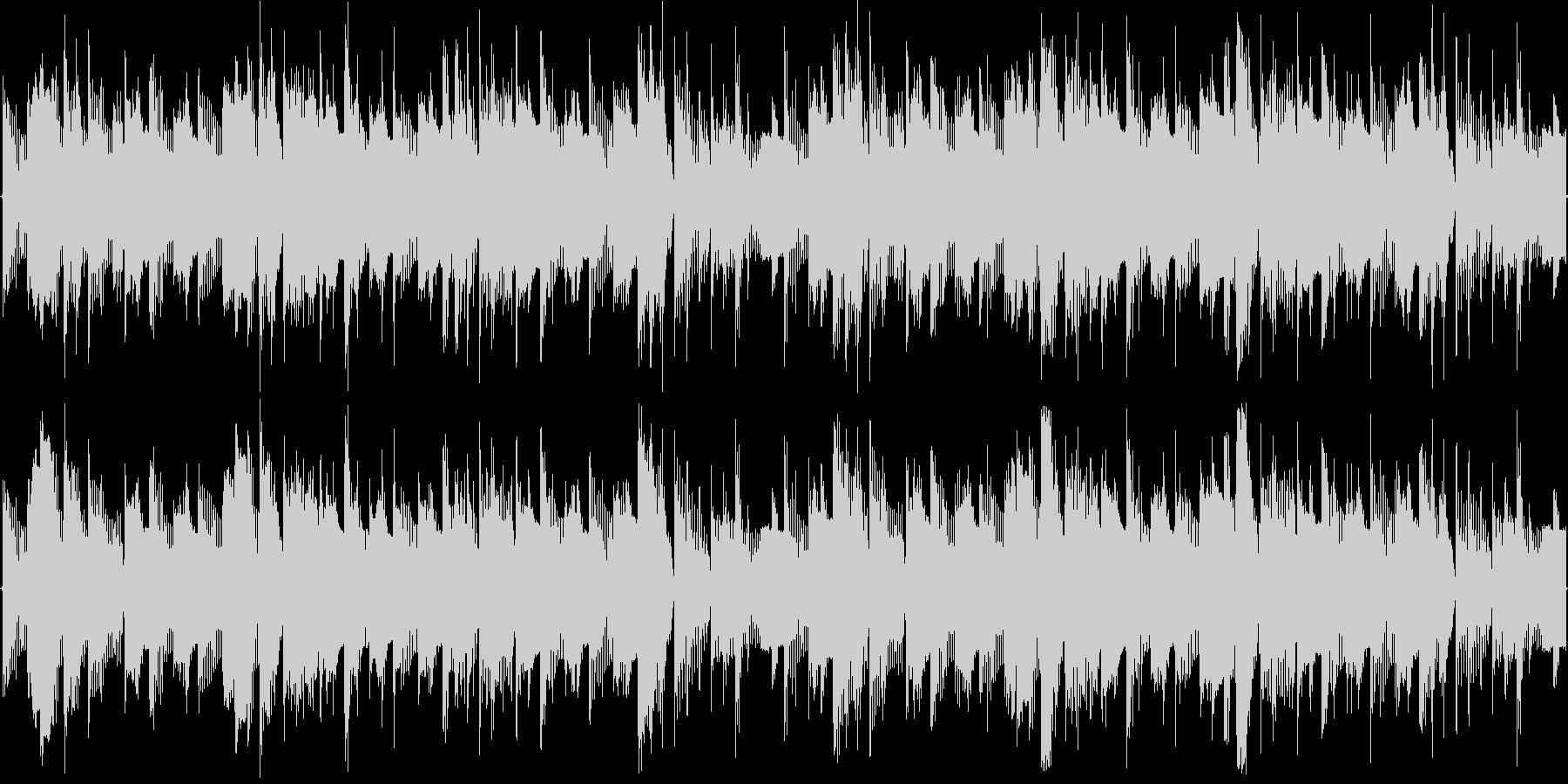 ごく短い、かわいくてポップなループBGMの未再生の波形