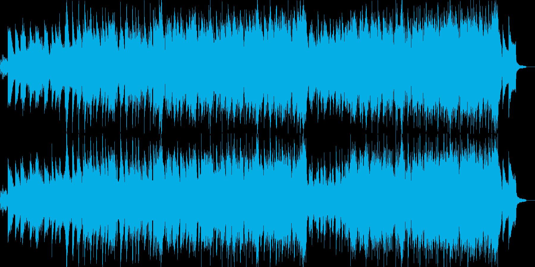 笛とピアノの古風なニューエイジ音楽の再生済みの波形