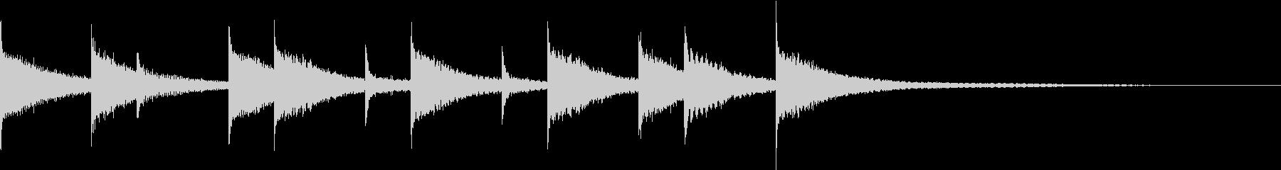 ほのぼのジングル 鉄琴木琴のかわいい系の未再生の波形