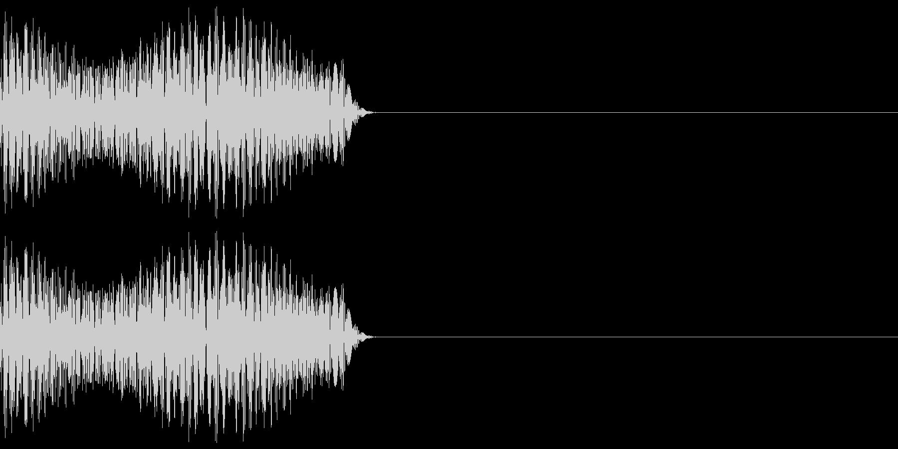 ゲーム等の禁止音「ブッ」 低めの音程の未再生の波形