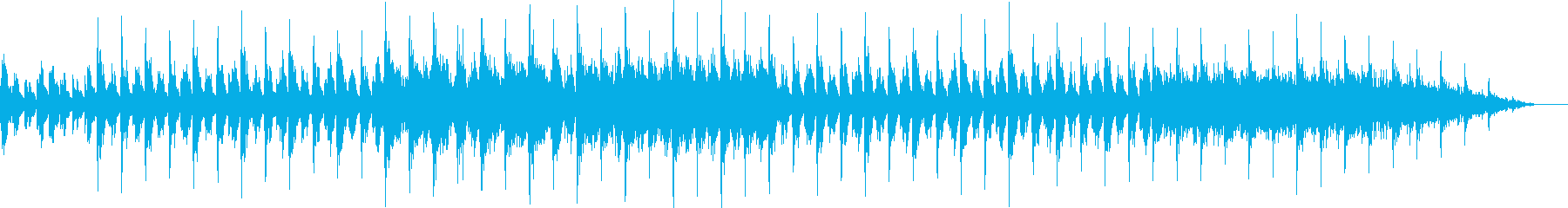 ピアノとアコースティックギターの癒しの曲の再生済みの波形