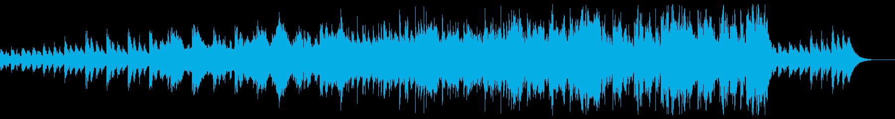 ホラー的で不気味な旋律のメロディーの再生済みの波形