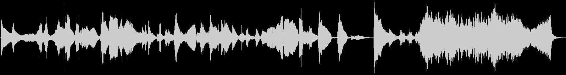 和風のホラーBGMの未再生の波形