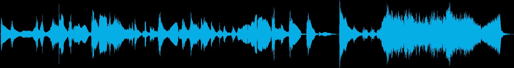 和風のホラーBGMの再生済みの波形