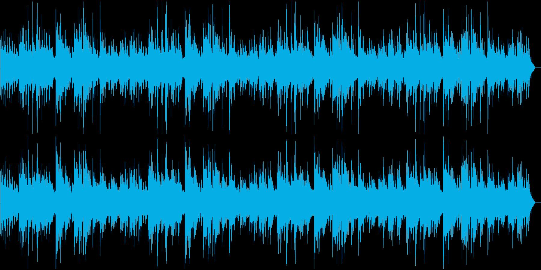 物悲しく重みのあるピアノソロの再生済みの波形