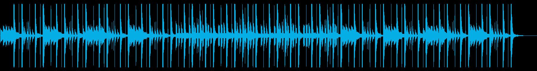 深夜の眠たくなるようなヒーリング曲の再生済みの波形