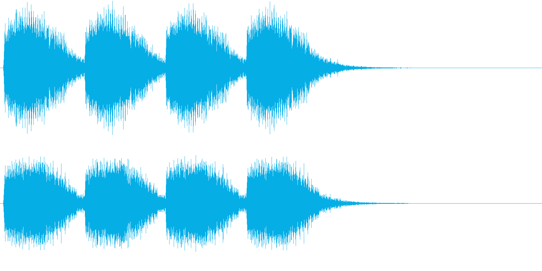 警告・警報・サイレン・ブザー#3(残響)の再生済みの波形