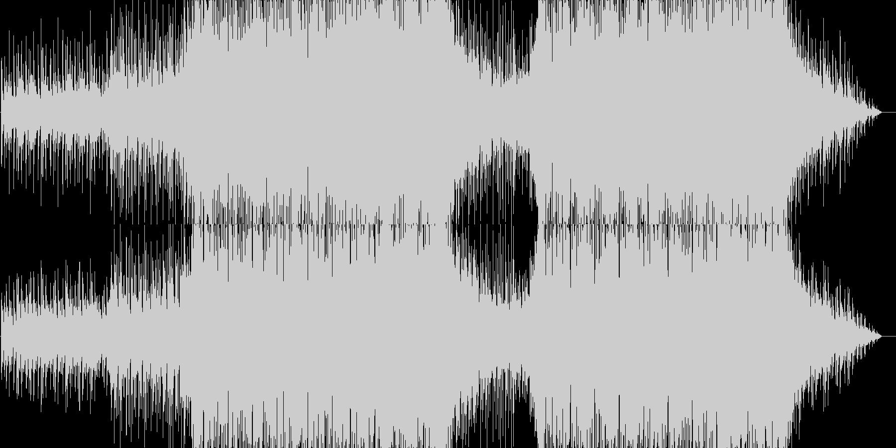 疾走感と未来感のある電子音楽の未再生の波形