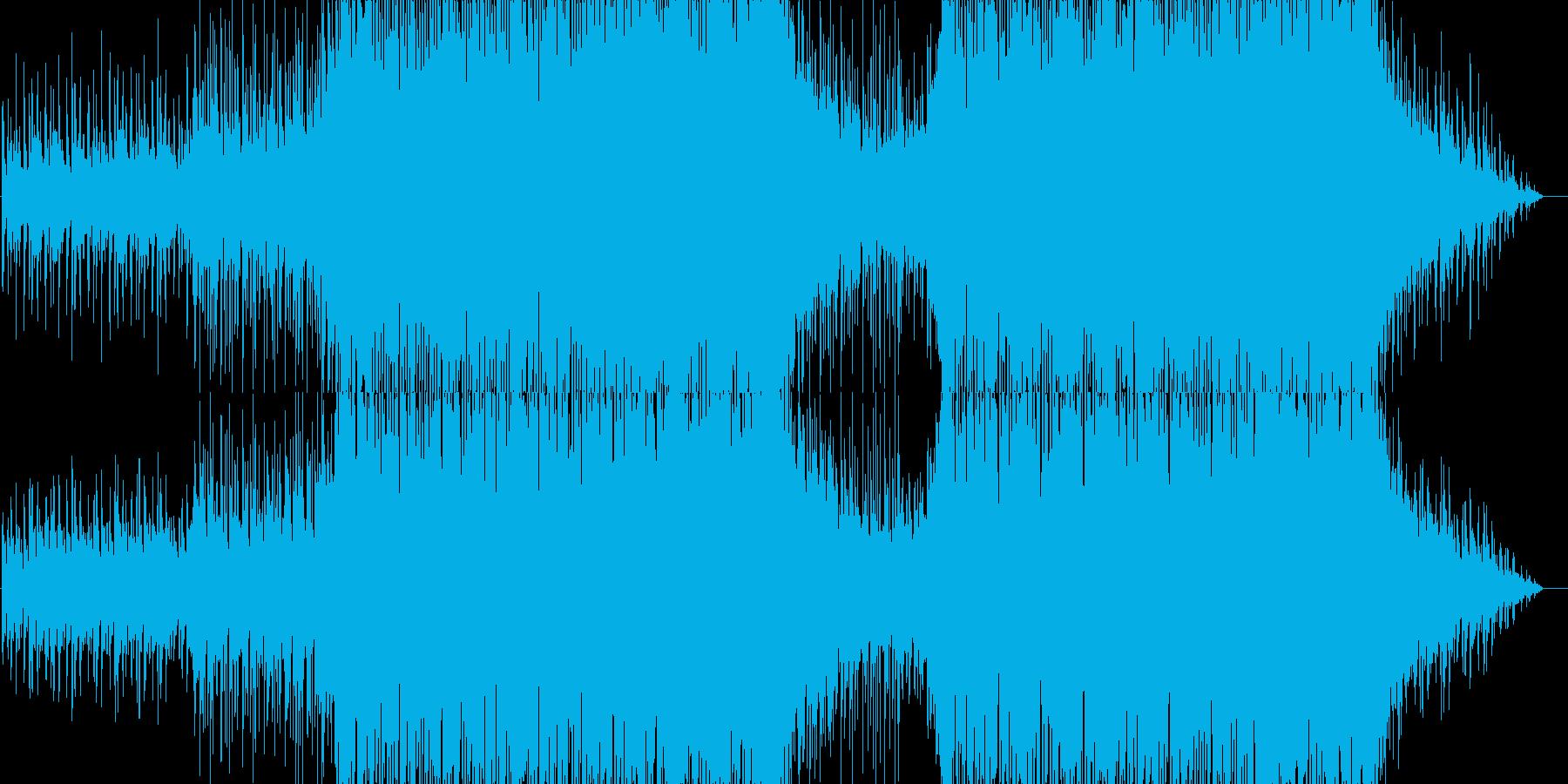 疾走感と未来感のある電子音楽の再生済みの波形