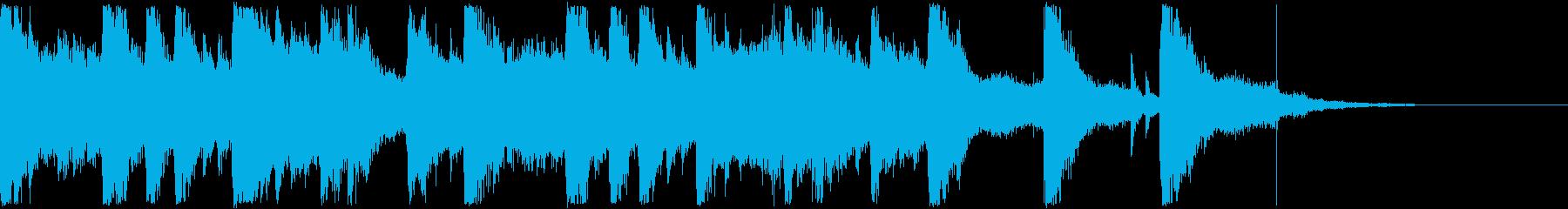 ハロウィン  ためらうおばけの再生済みの波形
