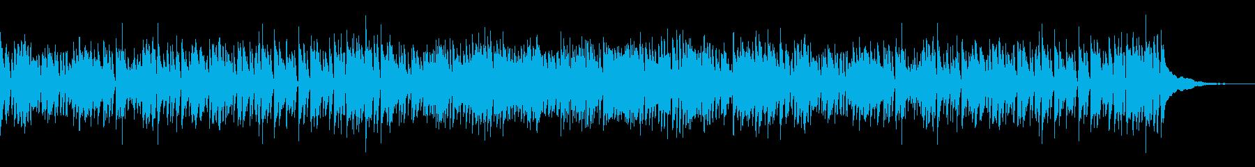 明るく楽しげなジャズの再生済みの波形