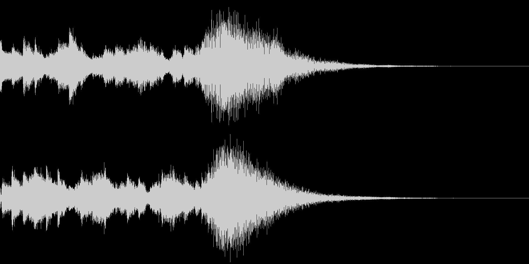 効果音 キラキラ 魔法 2の未再生の波形