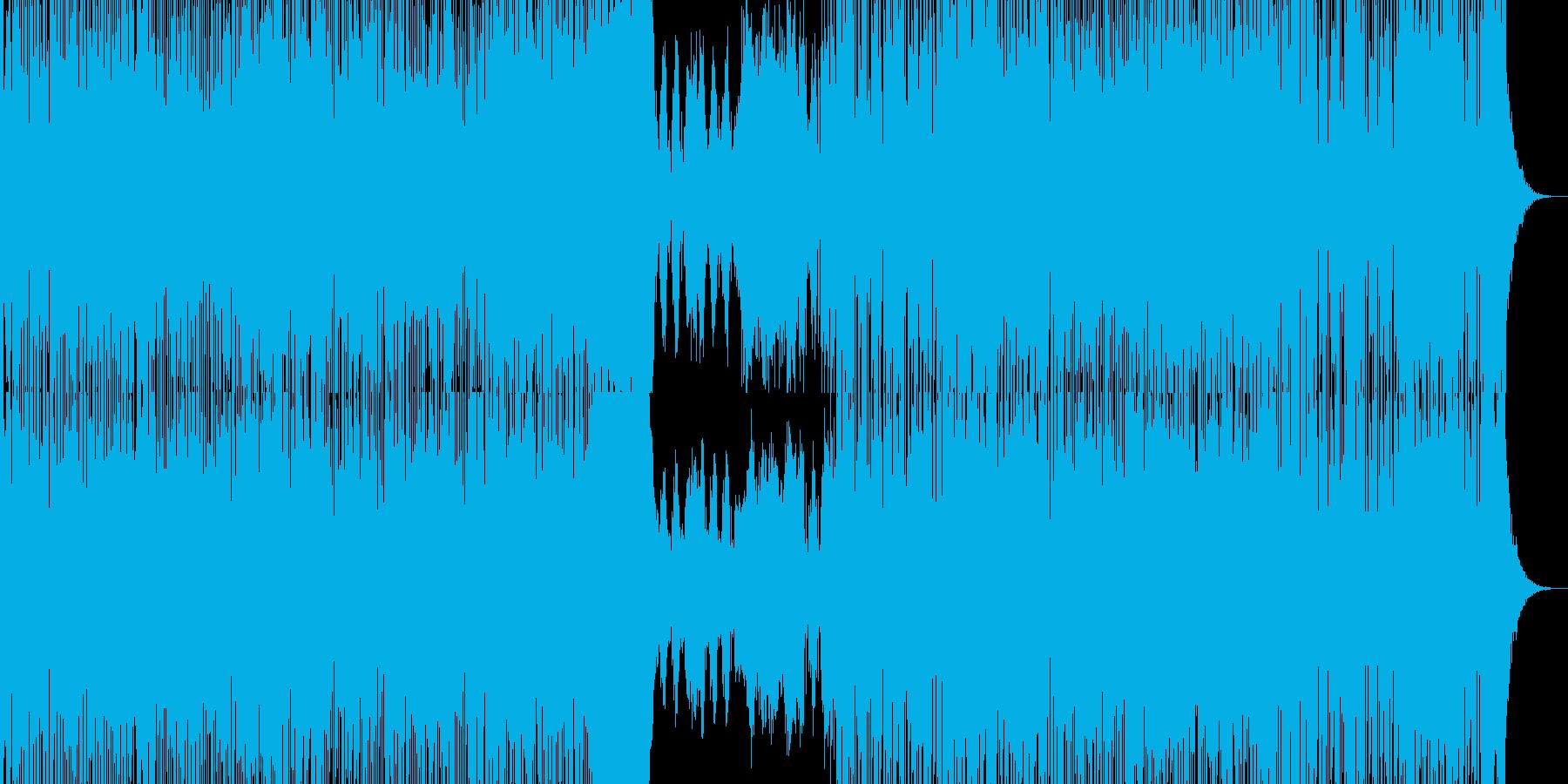 力強い元気なロックの再生済みの波形