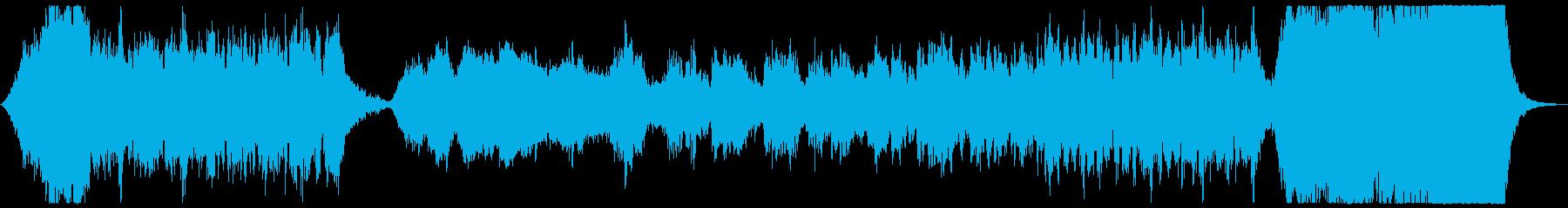 オーケストラを使用した戦闘に向かうシーンの再生済みの波形