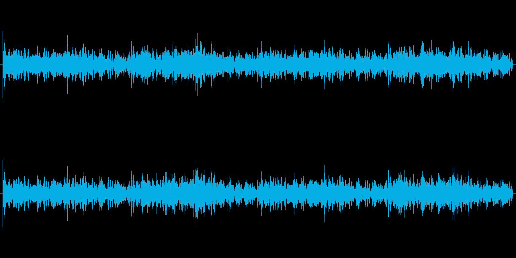 機械的テクノループゲームメニュー画面の再生済みの波形