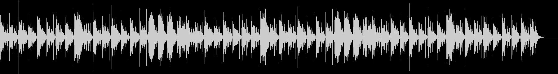 エレクトリックピアノによる温かいサウンドの未再生の波形