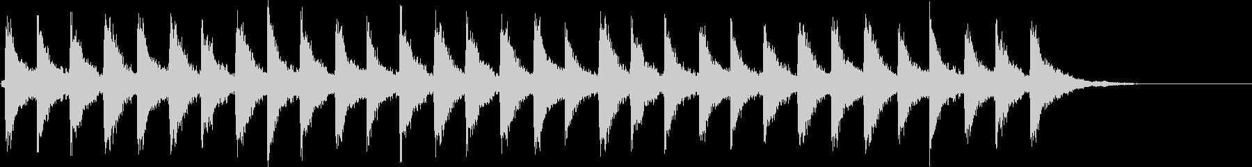 Xmasシーンに最適な鈴の音(速め)の未再生の波形
