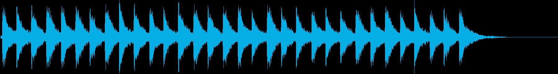 Xmasシーンに最適な鈴の音(速め)の再生済みの波形