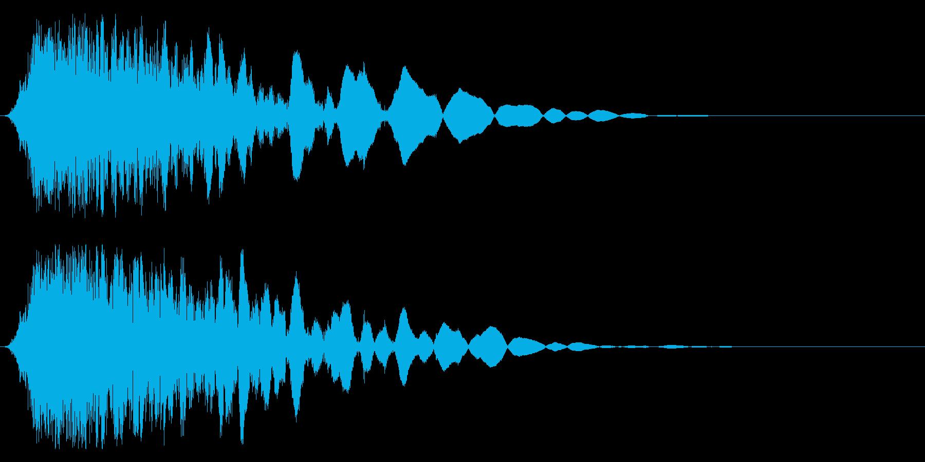 刀や剣 抜刀 斬撃の効果音 11bの再生済みの波形