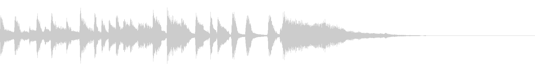 女性コーラスが可愛いボサノバのジングルの未再生の波形