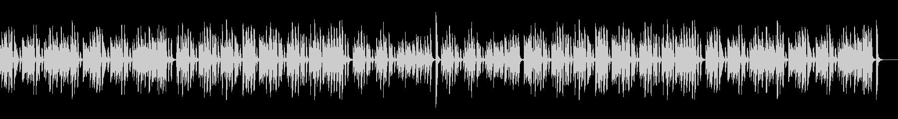 コロコロ可愛いレトロジャズピアノの未再生の波形