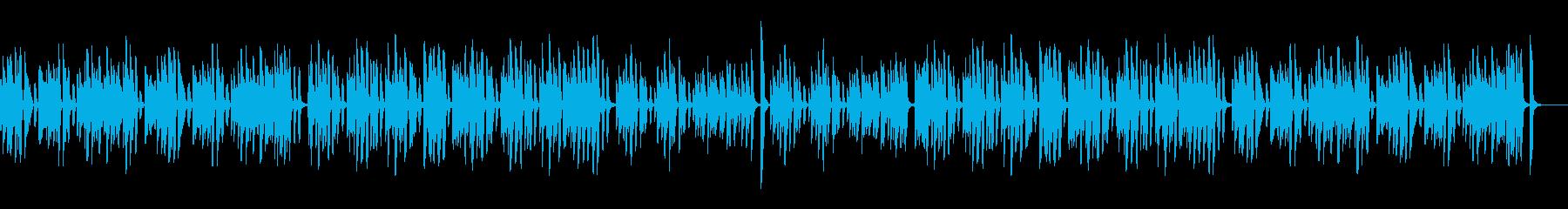 コロコロ可愛いレトロジャズピアノの再生済みの波形