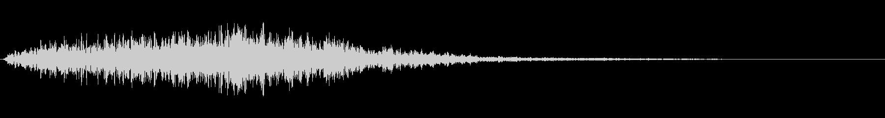 【ホラー】スリル SE_09 場面転換の未再生の波形