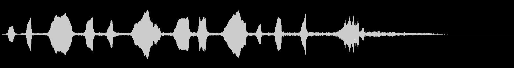 ホームミュートトランペットロゴのよ...の未再生の波形