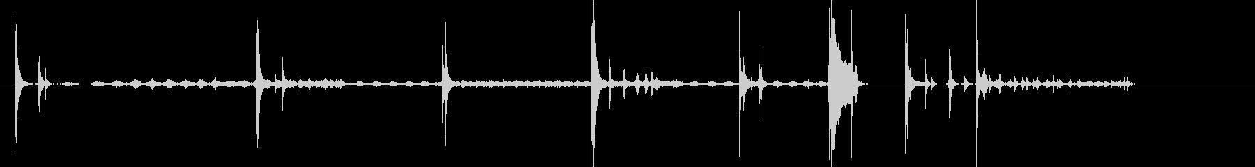 チャリクワワン(コイン落下音)の未再生の波形