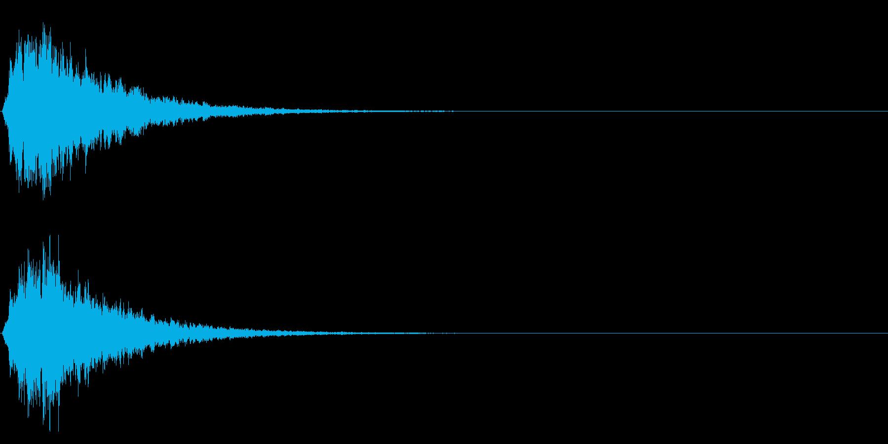 ゲームスタート、決定、ボタン音-051の再生済みの波形
