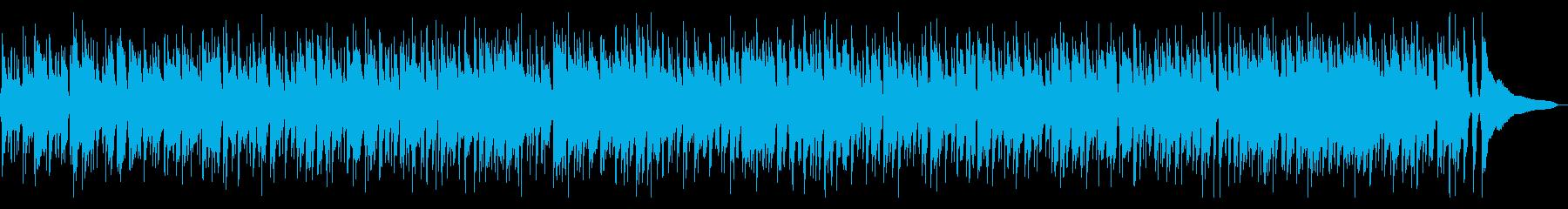 ボサノバ風の静かでゆったりとしたサウンドの再生済みの波形