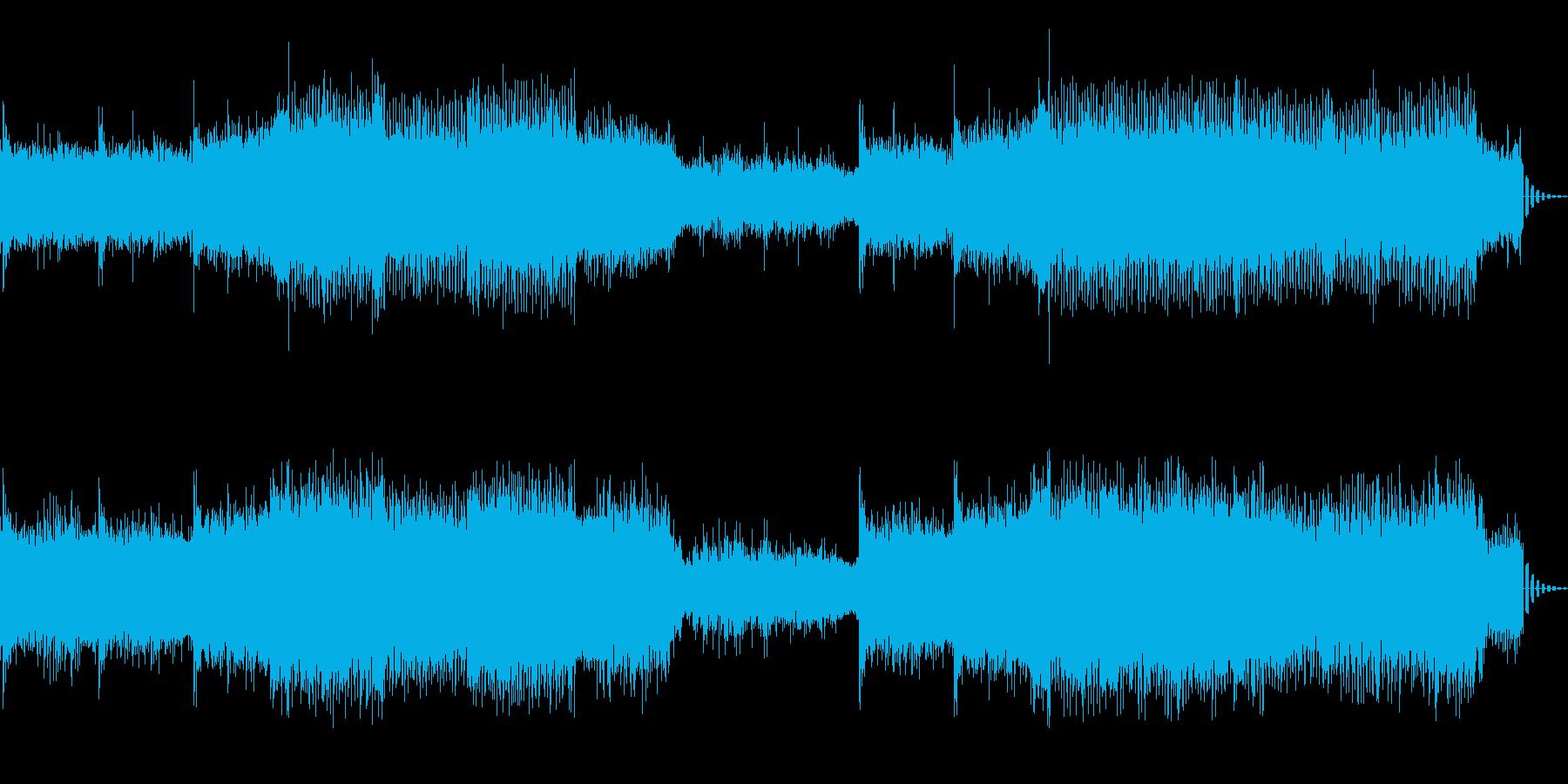 機械的で浮遊感あるシンセサイザーの曲の再生済みの波形