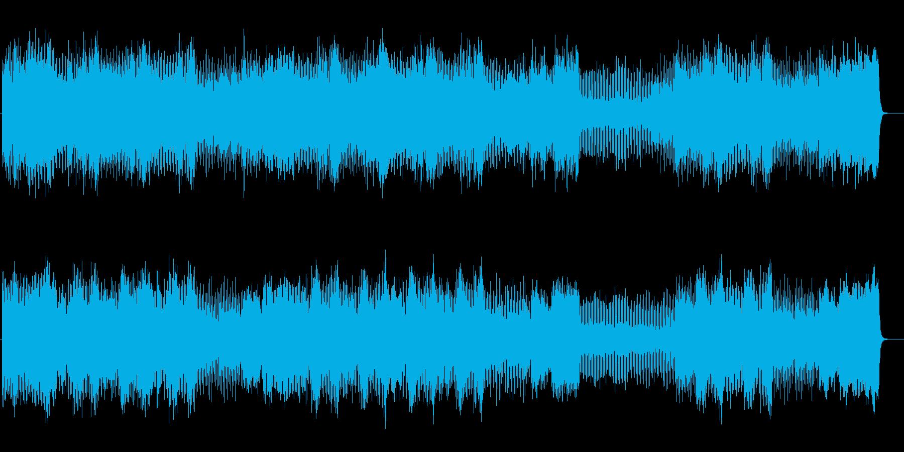 壮大な和音が連なるメロディのポップスの再生済みの波形