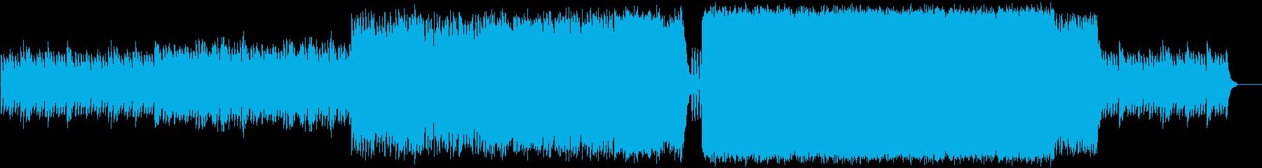ゴシックっぽい要素を含んだスローロック曲の再生済みの波形