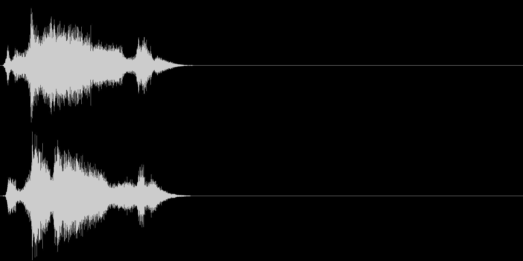 【ゲーム3】刀 ジャキン シャキン 金属の未再生の波形