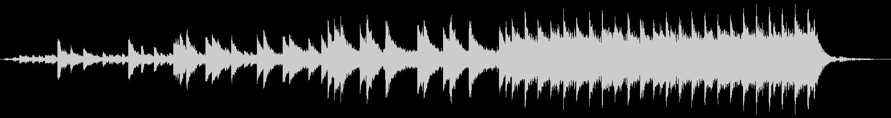 切ない、悲しい、ピアノソロの未再生の波形
