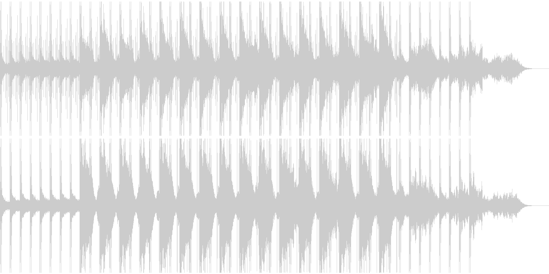 洗練されたノイズビートと幻想的なベルの音の未再生の波形