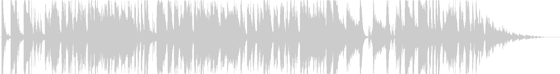 ショッピングをイメージ うきうきポップの未再生の波形