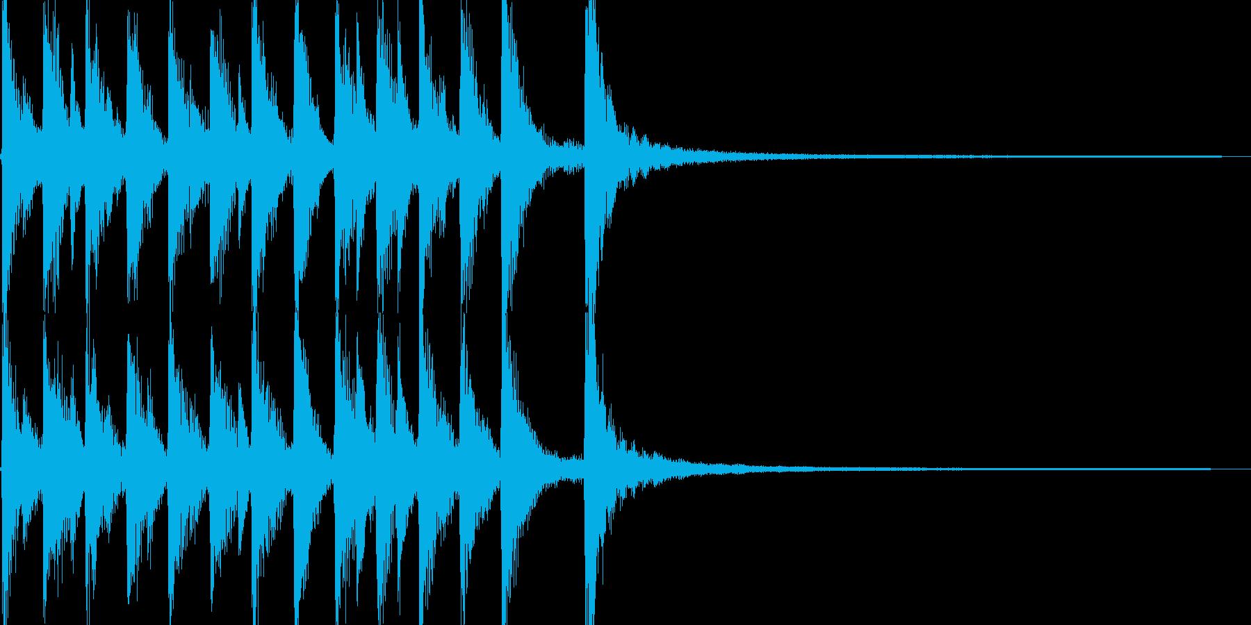 コミカルで陽気なカントリージングルの再生済みの波形
